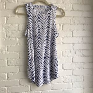 Athleta blue & white athletic tank top Great cond
